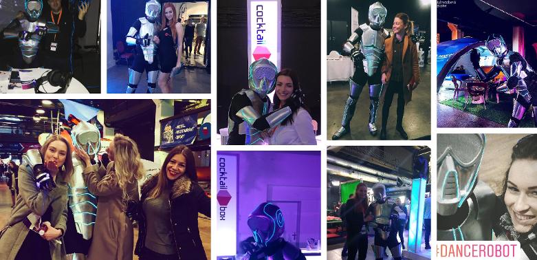 corporate robot party dance remix firme corporation events